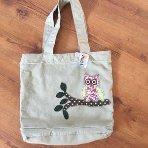 MUDD cloth shoulder bag with Cute Owl design NWT